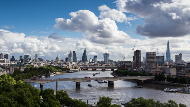london - circa 2013: time lapse of the new london city skyline  - 2013 stock-videos und b-roll-filmmaterial