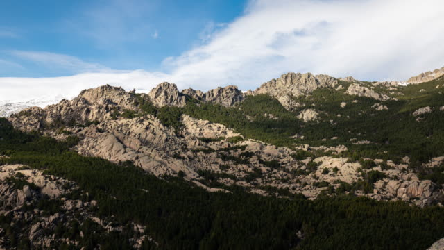 Time lapse of the Pedriza National Park near Madrid
