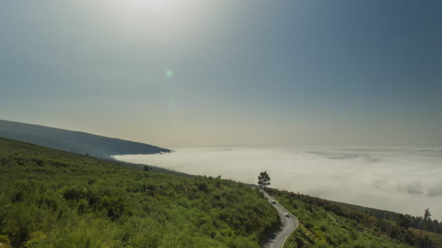 4K Time lapse of the sea of clouds of Las Cañadas del Teide, spring 2016, tenerife, Spain