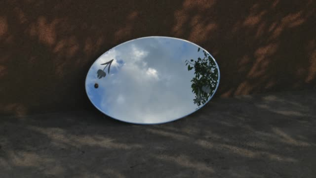 time lapse of the sky in mirror at nature background