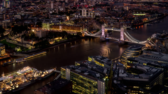 time lapse of the tower bridge london - vibrant color stock videos & royalty-free footage