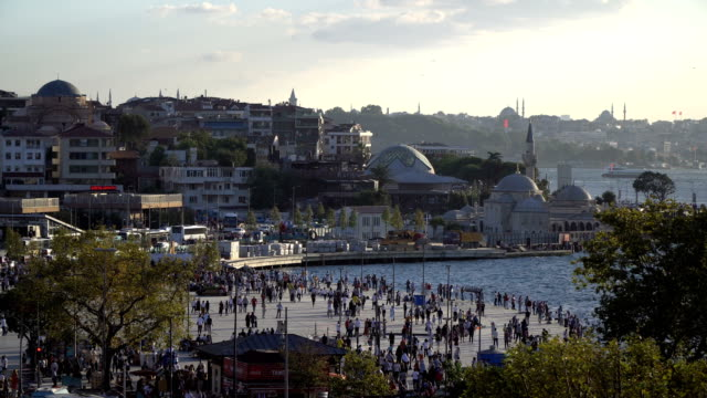 time lapse of the uskudar square - bosphorus stock videos & royalty-free footage