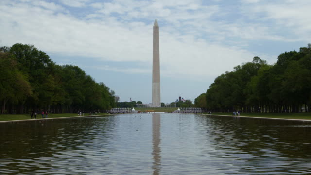 time lapse of the washington monument across the reflection pool - unknown gender stock videos and b-roll footage
