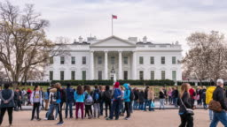 4K Time lapse of the White House in Washington, D.C., USA
