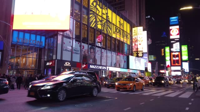 time lapse of times square, manhattan, new york, usa - times square manhattan stock videos & royalty-free footage