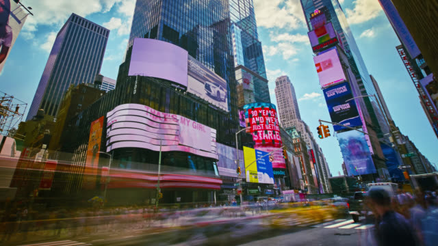 time lapse of times square, new york - making money stock videos and b-roll footage