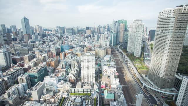 時間の経過の東京の街