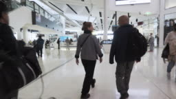 Time Lapse of tourist walking at Sydney airport