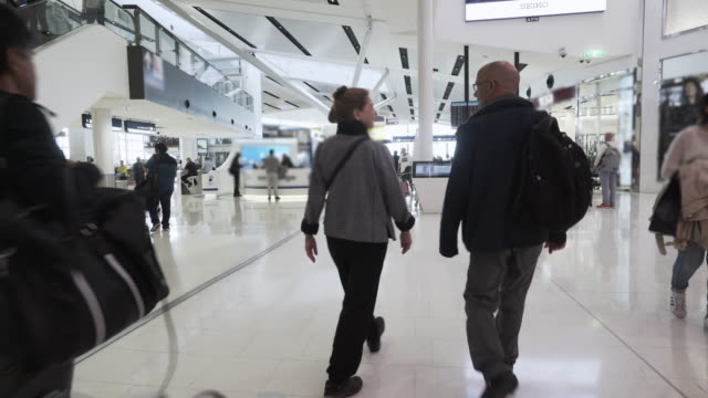 time lapse of tourist walking at sydney airport - gate stock videos & royalty-free footage