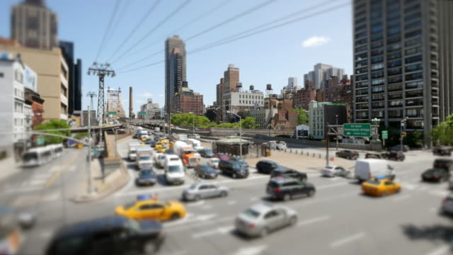 time lapse of traffic commuting through the city. urban metropolis background scenery