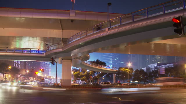 Time Lapse of traffic interchange in Shanghai China