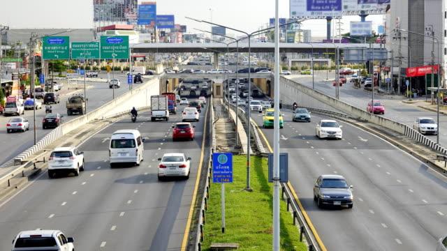 Time lapse of Traffic jam in Bangkok , Thailand