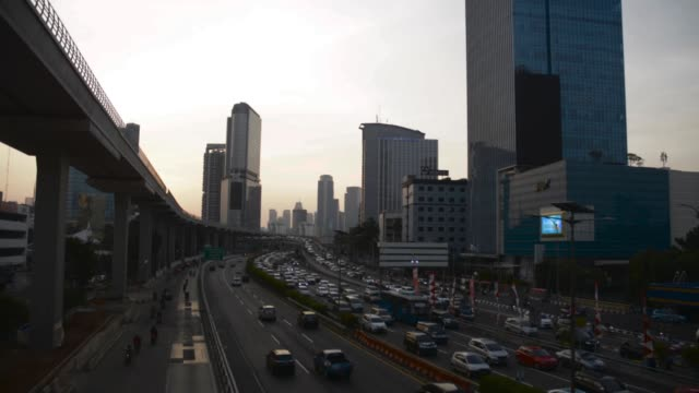 time lapse of traffic jam in jakarta - newly industrialized country stock videos & royalty-free footage