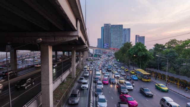 4k time lapse of traffic jam( - day to night stock videos & royalty-free footage