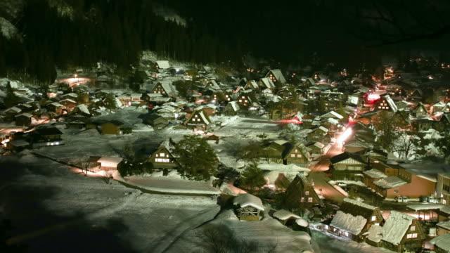 zeitraffer der traffic nacht - unesco welterbestätte stock-videos und b-roll-filmmaterial