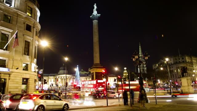 Time lapse of traffic Trafalgar Square London