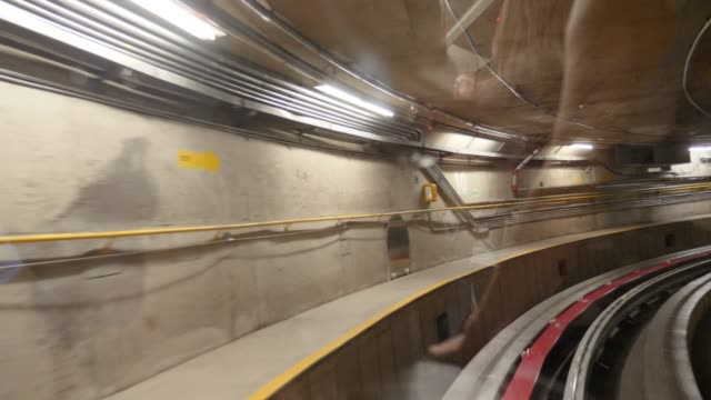 time lapse of train in a tunnel - fatcamera stock videos & royalty-free footage
