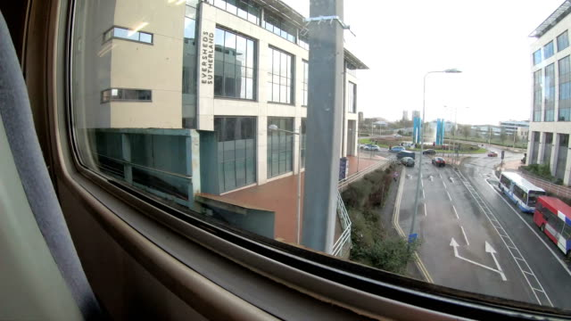 time lapse of traveling with bus and a train in united kingdom - bristol england stock videos & royalty-free footage