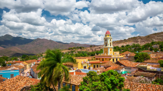time lapse di trinidad, cuba - cuba video stock e b–roll