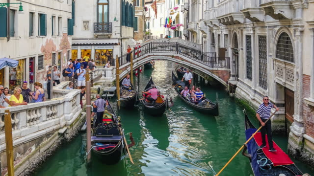 4k time lapse of venice - venice italy stock videos and b-roll footage