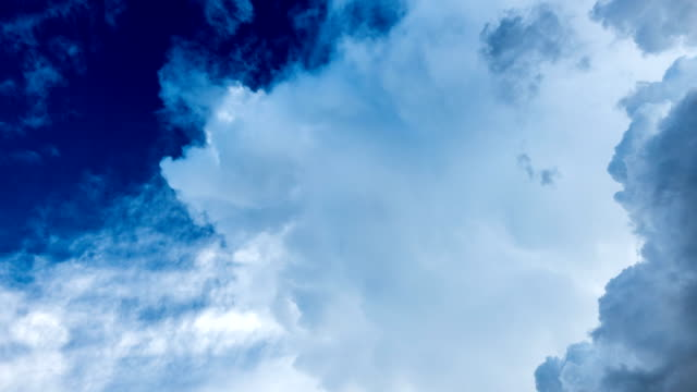 time lapse of vivid color cloud - cumulus stock videos & royalty-free footage