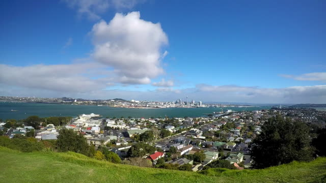 Time Lapse of Waitemata Harbour and Auckland City Skyline