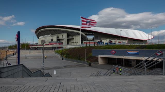 Time lapse of Wanda Metropolitano Stadium in Madrid