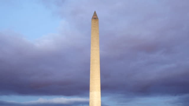 time lapse of washington monument - washington monument stock videos and b-roll footage