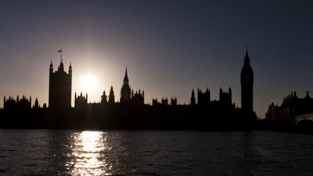 LONDON - CIRCA 2012: Time lapse of Westminster during sunset