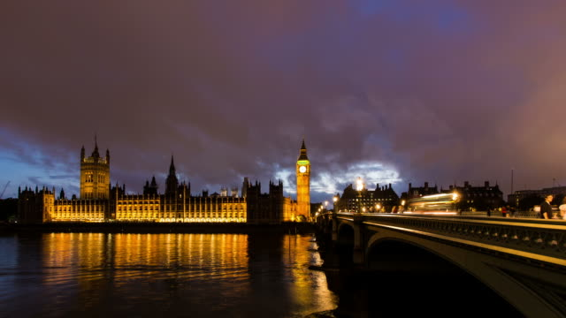 london - circa 2013: time lapse of westminter during the night - 2013 stock videos & royalty-free footage
