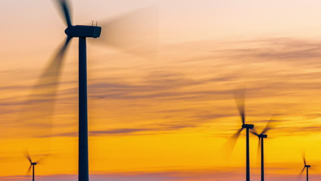 time lapse of windmill turbine - sustainable energy stock videos & royalty-free footage