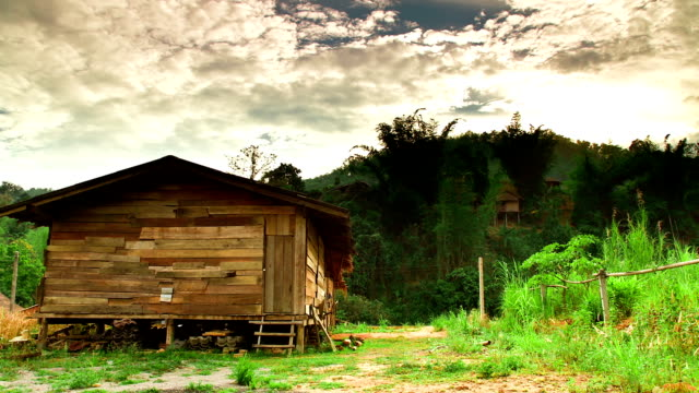 Time Lapse of Wooden Hut in Thailand
