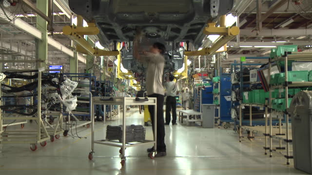 Time Lapse of Workers in Mahindra and Mahindra Factory