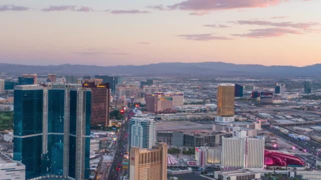 Time lapse of World famous Vegas Strip in Las Vegas, Nevada