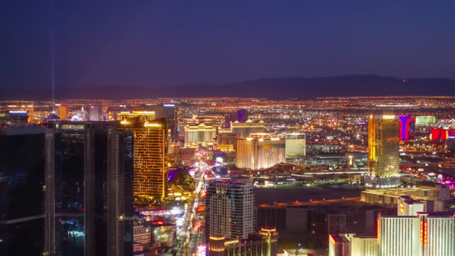 Time lapse of World famous Vegas Strip in Las Vegas, Nevada