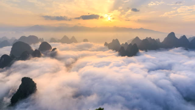 time lapse of yangshuo - canyon stock videos and b-roll footage