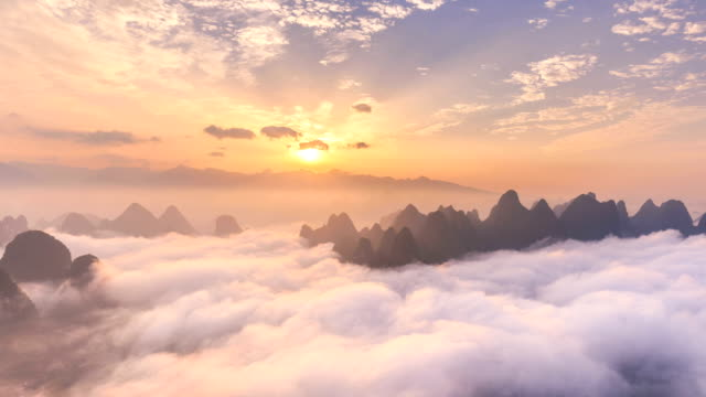 time lapse of yangshuo - guilin stock videos & royalty-free footage
