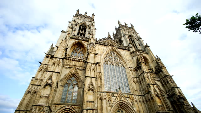 Time lapse of York Minster in the city of York, England UK