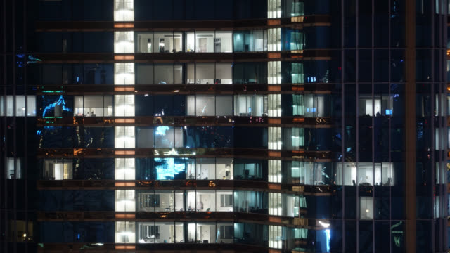 4K Time lapse office building