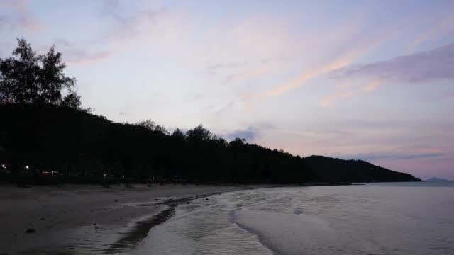 Time lapse oft sunset hours in Sibu island, Johor, Malaysia.