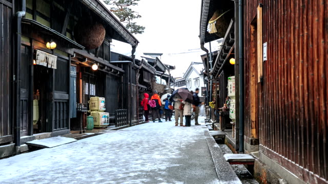 hd time lapse : old town yamanouchi - nagano prefecture stock videos and b-roll footage