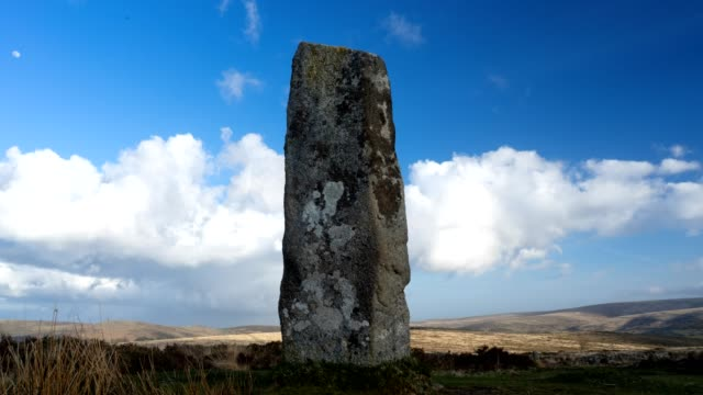 time lapse on dartmoor national park - obelisk stock videos & royalty-free footage