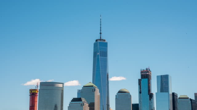 ms time lapse one world trade center,freedom tower,new york city,new york,united states - tilt up stock videos & royalty-free footage