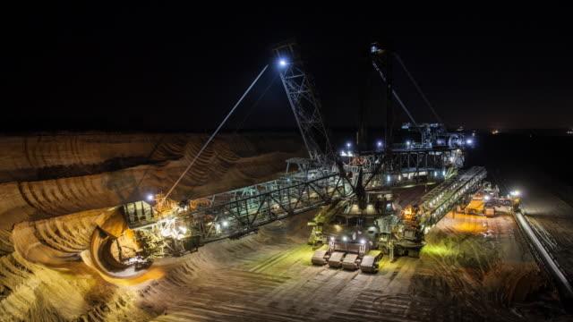 Time Lapse: Open cast  Coal Mining