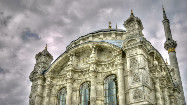 hdr time lapse: ortakoy mosque - ortakoy mosque stock videos and b-roll footage