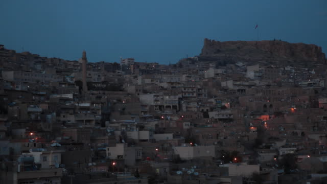 Time lapse over city of Mardin