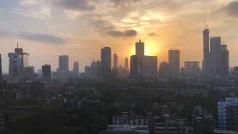 time lapse over new mumbai - india - india stock videos & royalty-free footage
