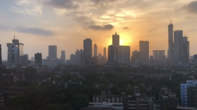time lapse over new mumbai - india - india video stock e b–roll