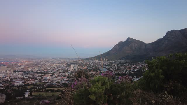 time lapse over the city of cape town late afternoon - cape town stock videos & royalty-free footage