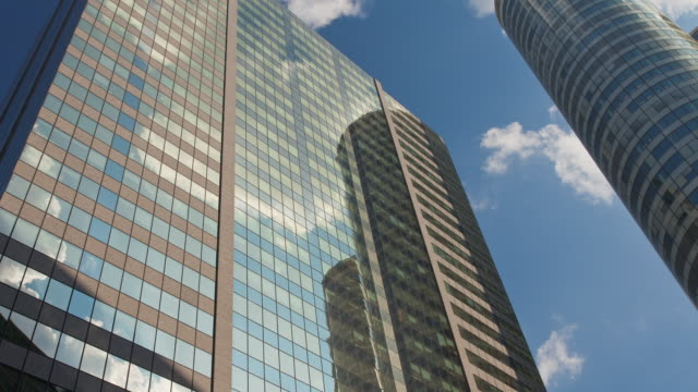 Time Lapse pan of office buildings in La Defense - Paris